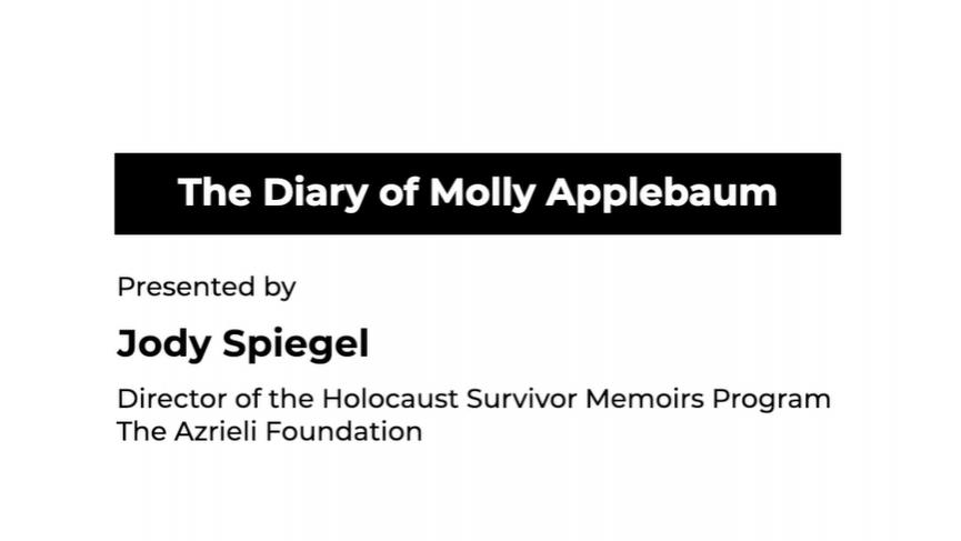 The Diary of Molly Applebaum testimonial
