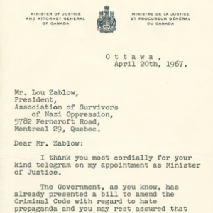 The Trudeau Letter