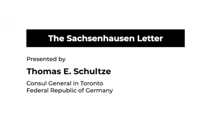 The Sachsenhausen Letter testimonial