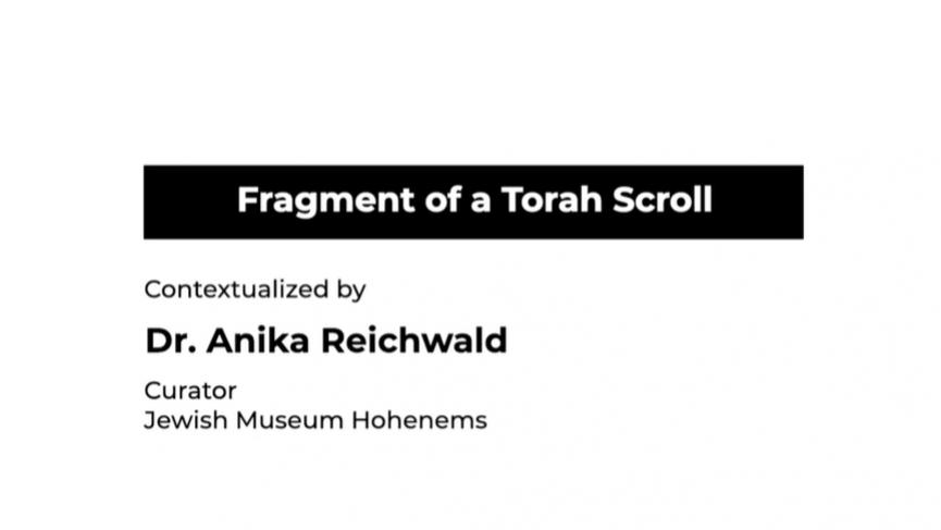 Fragment of a Torah Scroll testimonial